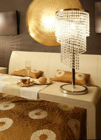 Asian modern bedroom breakfast table luxury interior design photo