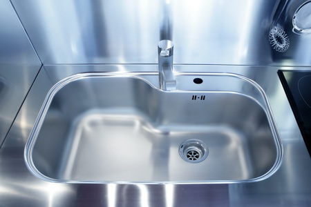 Kitchen silver sink modern decoration house stainless steel Stock Photo - 8425861