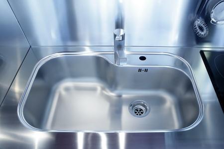 Kitchen silver sink modern decoration house stainless steel photo