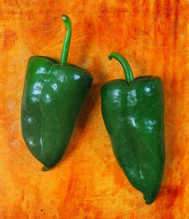 peppers: Poblano chili peppers chile Capsicum annuum