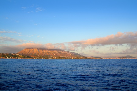 montgo mountain in blue Mediterranean dea Denia alicante spain photo