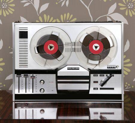 classic retro reel to reel open 60s vintage music recorder photo