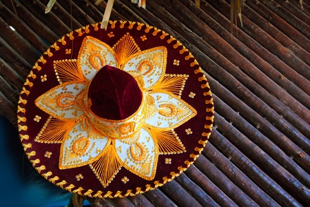 beautiful charro mariachi hat mexican icon from Mexico photo