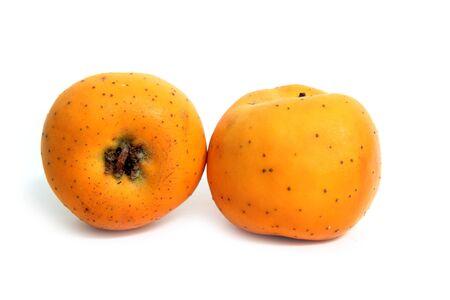 crata�gus: Frutas de invierno de Tecojote llamado Crataegus pubescens stipulacea Foto de archivo