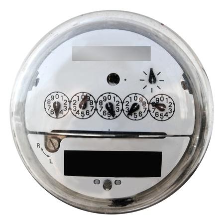 energia electrica: Pantalla anal�gica medidor el�ctrico ronda con cubierta de cristal