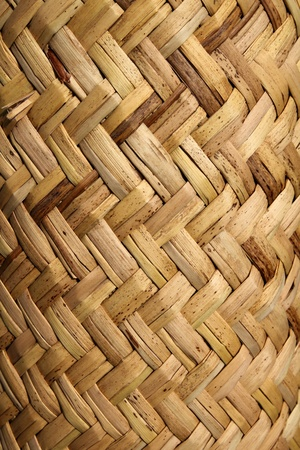 basketry: handcraft mexican cane basketry in vegetal texture