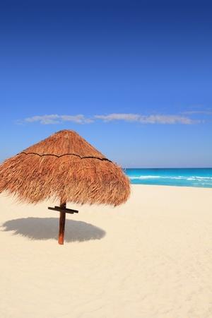 sun roof: palapa sun roof beach umbrella in caribbean