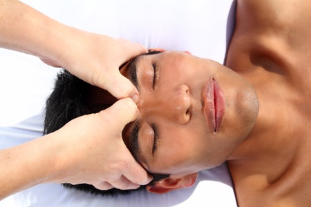 chakras third eye massage ancient Maya therapy central America shiatsu Stock Photo - 9120744
