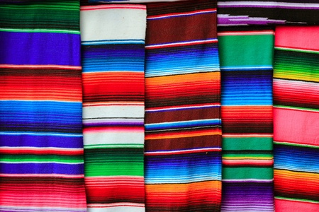 Mexican serape fabric colorful pattern texture background Stock Photo - 9120841