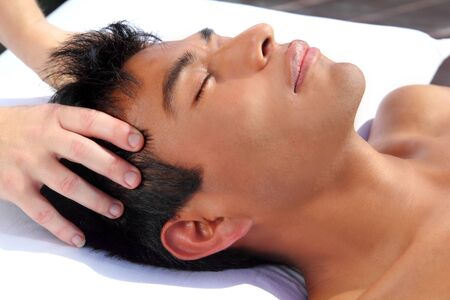 chakras head massage ancient Maya therapy central America shiatsu Stock Photo - 9142597