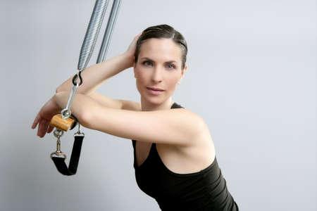 pilates woman portrait fitness sport beautiful girl photo