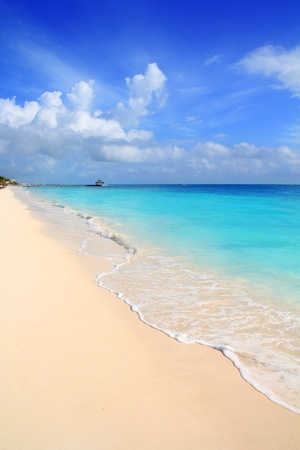 vertical: Cielo Caribe tropical Playa Turquesa azul Riviera Maya de M�xico