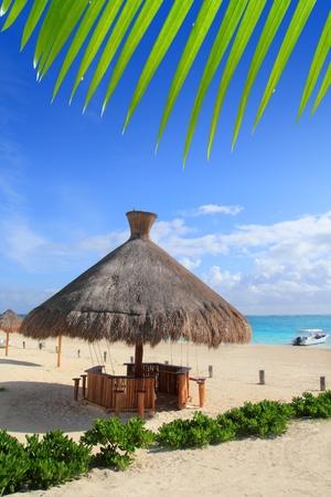 morelos: Caribbean Puerto Morelos Mayan Riviera Mexico sunroof turquoise sea Stock Photo