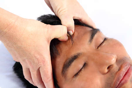 chakras third eye massage ancient Maya therapy central America shiatsu Stock Photo - 9226872