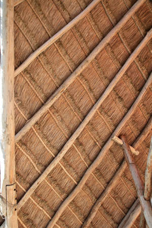 perfect palapa tropical Mexico wood cabin roof detail photo