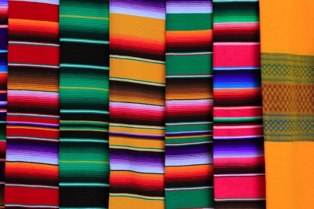 artisanry: Mexican serape fabric colorful pattern texture background