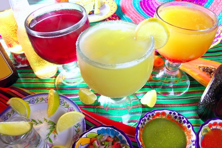 margarita sex on the beach cocktail beer tequila Mexico drinks beverages Stock Photo