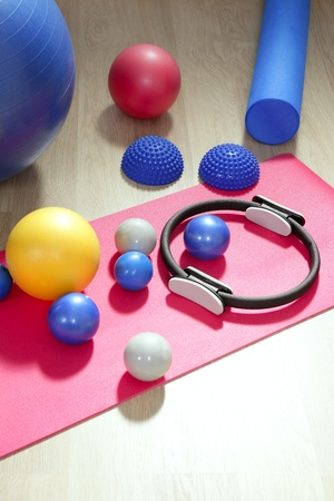 balls pilates toning stability ring roller yoga mat sport gym stuff photo