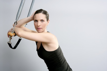 trapeze pilates woman portrait fitness sport beautiful girl photo