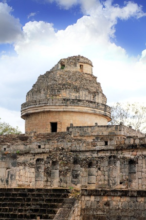 Caracol Mayan observatory Chichen Itza Mexico Yucatan Stock Photo - 9307897
