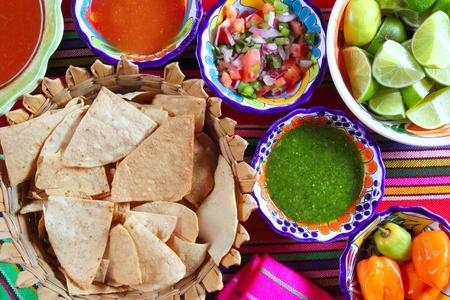 molhos: Mexican sauces pico de gallo habanero chili sauce Mexico spices Banco de Imagens