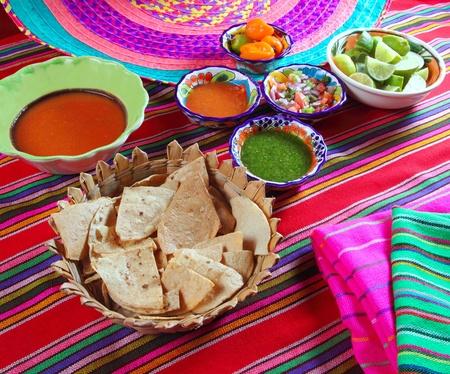 Mexican sauces pico de gallo habanero chili sauce Mexico spices photo