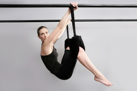 pilates sport woman gym instructor fitness exercise photo