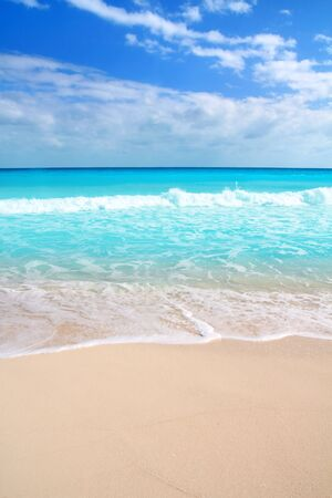 perfect waves: Caribbean turquoise beach perfect sea sunny day Mayan Riviera