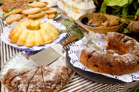Cakes pastry sweets Mediterranean bakery Balearic islands photo