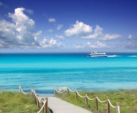 balearic: Illetas illetes beach tropical Mediterranean aqua turquoise paradise Formentera island