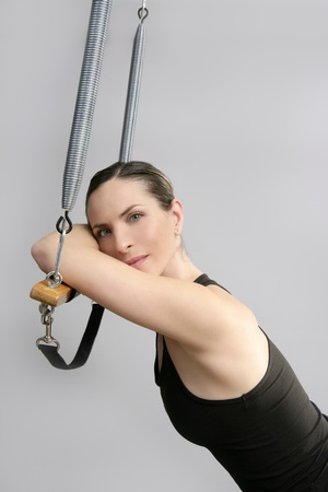 Cadillac trapeze pilates woman portrait fitness sport beautiful girl photo