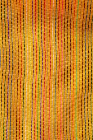 Mexican serape vibrant yellow macro fabric texture background Stock Photo - 9705962