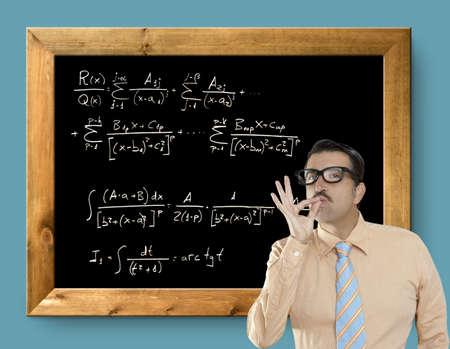 resolve: mathematical formula genius nerd geek easy resolve positive gesture