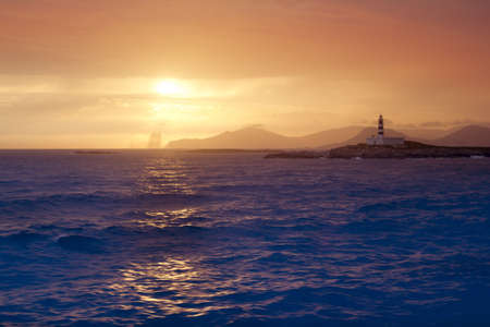 vedra: Ibiza formentera boat trip sunset Es Vedra Balearic Islands golden sky