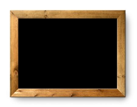 blank blackboard copyspace with wood frame photo