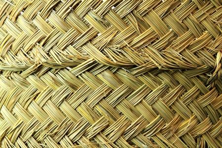 esparto grass handcraft basket texture traditional Spain crafts photo