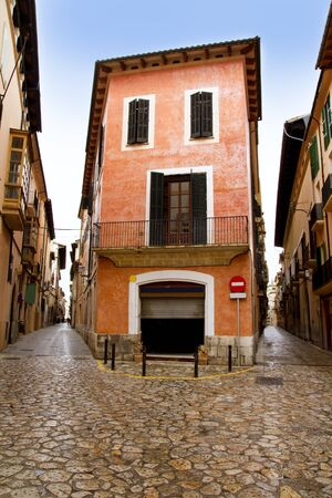 Palma de Mallorca old city Barrio Calatrava street in Balearic islands photo