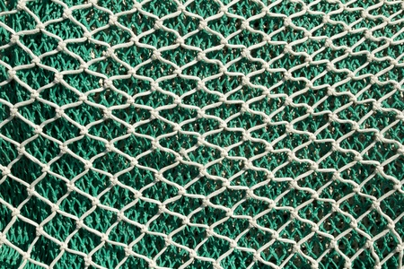 fishing industry: Fishing nets and tackle in Andratx port from mallorca Balearic island