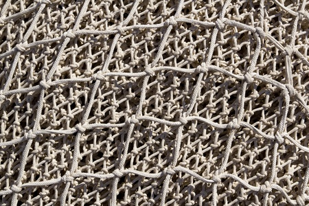 fishnet: Fishing nets and tackle in Andratx port from mallorca Balearic island