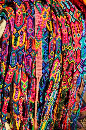 Chiapas Mexico handcrafts colorful belts and bracelets  Stock Photo - 10048827