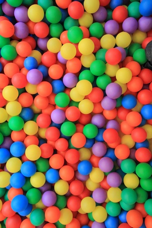 playcentre: colorful plastic balls in children park background