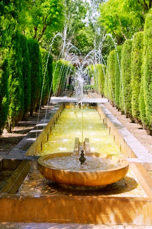 fontaine of Hort del Rei gardens Palma de Mallorca near Almudaina photo