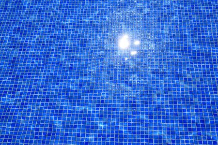 blue tiles swimming pool water reflection texture Stock Photo - 10438344