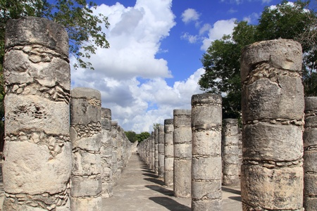 Mayan Chichen Itza Mexico thousand columns temple in Yucatan photo