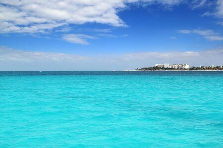 mujeres: Isla Mujeres North beach near Cancun in Mexico Caribbean Mayan Riviera