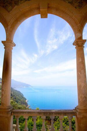 mediterranean forest: Deia mirador des Galliner at  Son Marroig palace Mallorca in Balearic islands