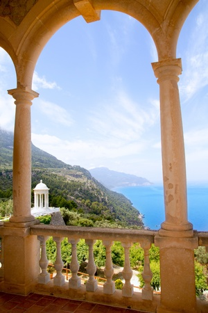 majorca: Deia mirador des Galliner at  Son Marroig palace Mallorca in Balearic islands