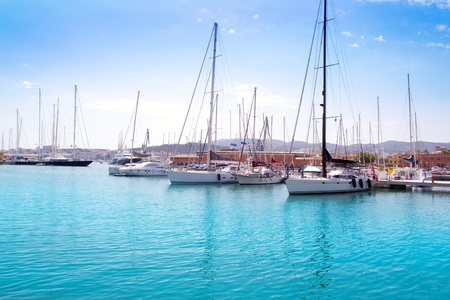 Marina port in Palma de Mallorca at Balearic Islands Spain Stock Photo - 10434906