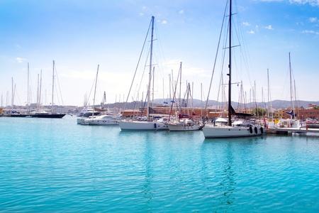 Marina port in Palma de Mallorca at Balearic Islands Spain Stock Photo - 10434906