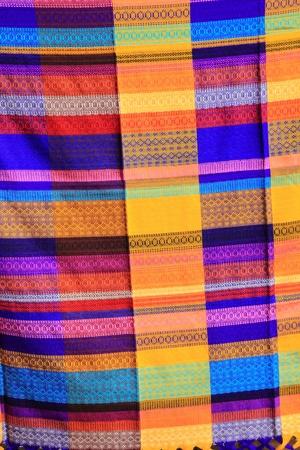 serape: Mexican serape fabric colorful pattern texture background